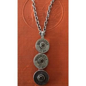 Jewelry - 12 gauge Ammo Charmed Silver Necklace